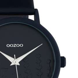 Oozoo C10607 Women's Watch with Leather Strap Dark Blue Summer Vibes Ø 36 mm