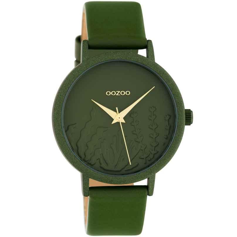 Oozoo C10608 Damen-Armbanduhr mit Lederband Grün Summer Vibes Ø 36 mm 8719929018721