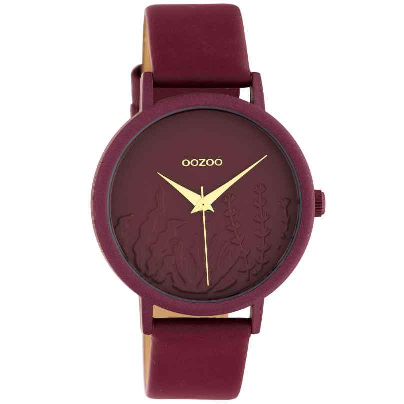 Oozoo C10609 Damen-Armbanduhr mit Lederband Bordeaux Summer Vibes Ø 36 mm 8719929018738