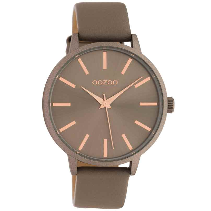 Oozoo C10612 Women's Watch with Leather Strap Quartz Taupe 42 mm 8719929018769