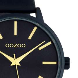 Oozoo C10619 Damen-Armbanduhr mit Lederband Dunkelblau 42 mm