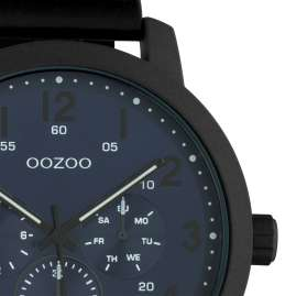 Oozoo C10509 Men's Watch with Leather Strap Chrono Look Black / Blue
