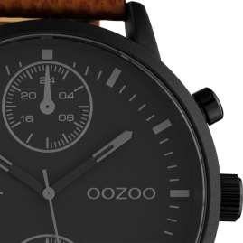 Oozoo C10533 Herren-Armbanduhr im Chrono-Look Braun / Schwarz 50 mm