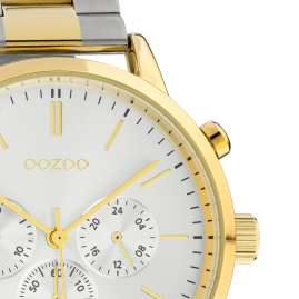 Oozoo C10547 Men's Watch Stainless Steel Bracelet Chrono Look Two-Colour