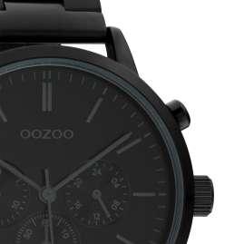 Oozoo C10549 Herren-Armbanduhr im Chrono-Look Edelstahl-Band Schwarz 42 mm