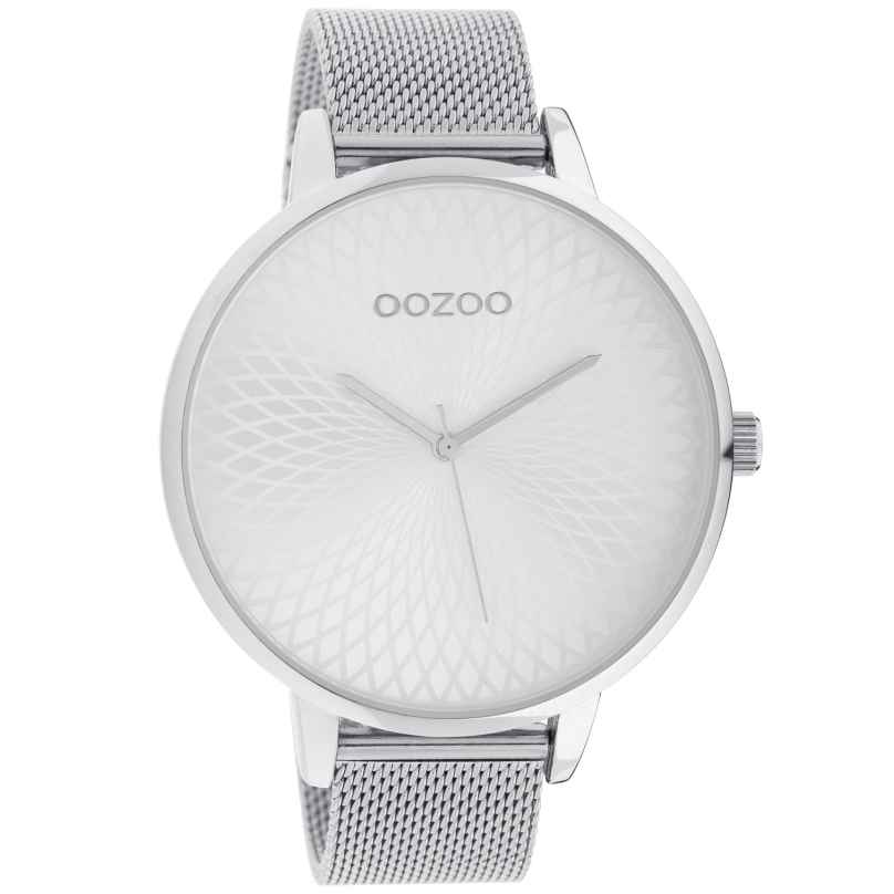 Oozoo C10550 XL Damenuhr mit Edelstahl-Band silber 48 mm 8719929018141