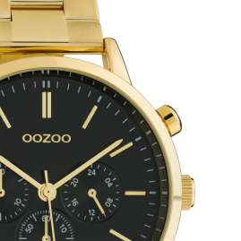 Oozoo C10563 Ladies' Wrist Watch with Chrono Look gold / black 38 mm
