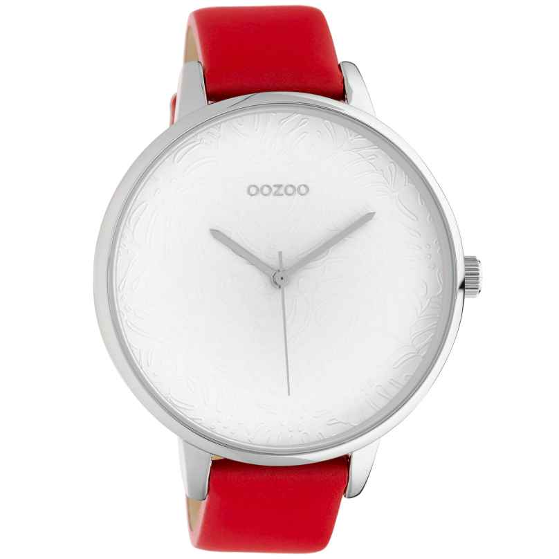 Oozoo C10570 Ladies' Watch with Red Leather Strap 48 mm 8719929018349