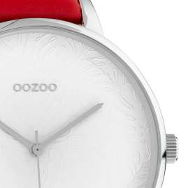 Oozoo C10570 Ladies' Watch with Red Leather Strap 48 mm