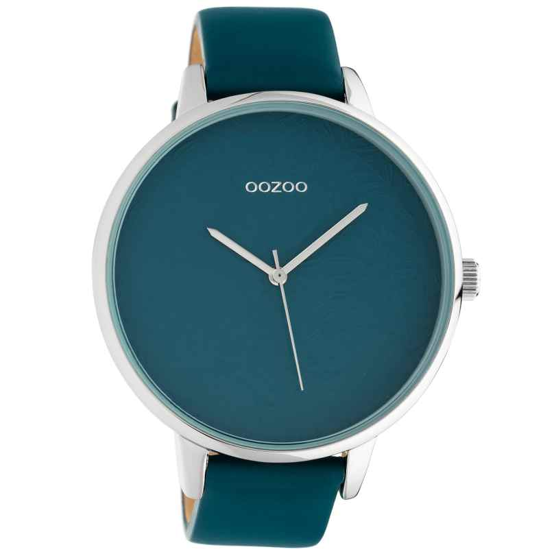 Oozoo C10571 Ladies' Watch with Leather Strap Teal 48 mm 8719929018356