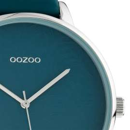 Oozoo C10571 Ladies' Watch with Leather Strap Teal 48 mm