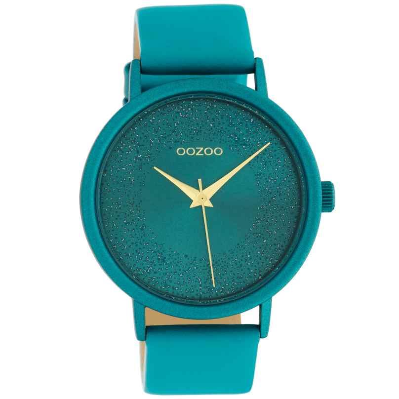 Oozoo C10581 Damenuhr Lederband Ø 42 mm Viridian Grün 8719929018455