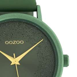 Oozoo C10582 Ladies' Watch Leather Strap Ø 42 mm Lily Pad Green