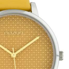 Oozoo C10590 Ladies Watch with Leather Strap Mustard 42 mm