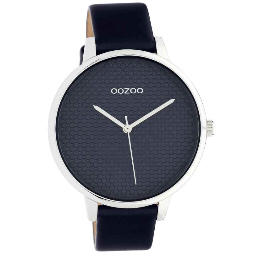 Oozoo C10594 Women's Watch with Leather Strap 42 mm dark blue / silver 8719929018585