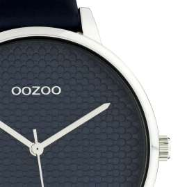 Oozoo C10594 Women's Watch with Leather Strap 42 mm dark blue / silver
