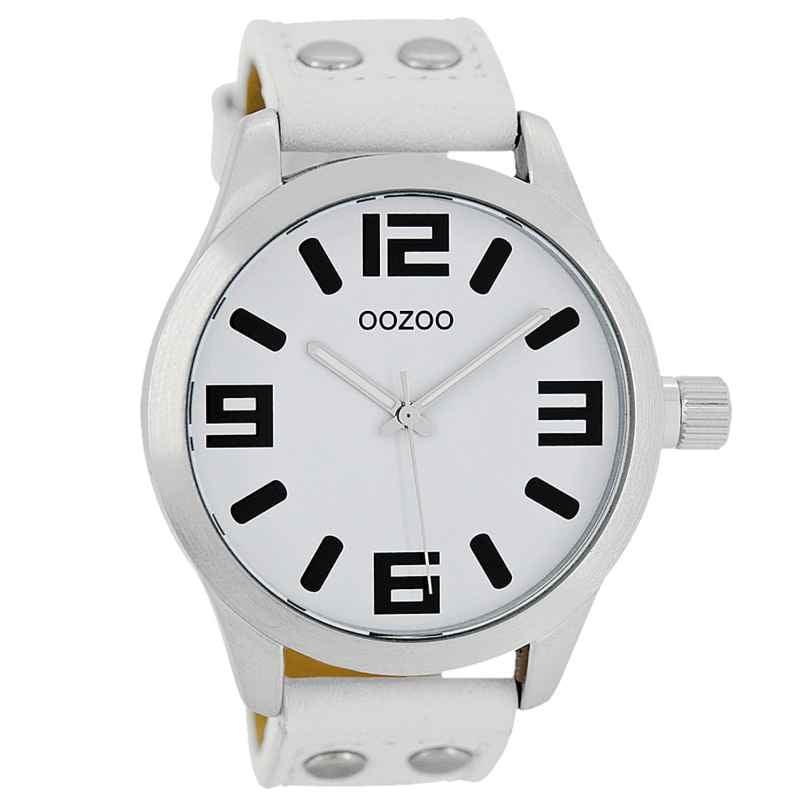Oozoo C1050 Armbanduhr XL Weiß 46 mm 9879012491967
