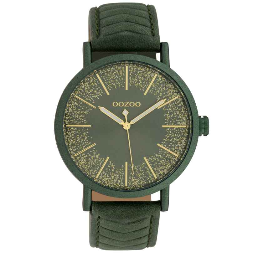 Oozoo C10148 Armbanduhr Dunkelgrün 42 mm 8719929011692