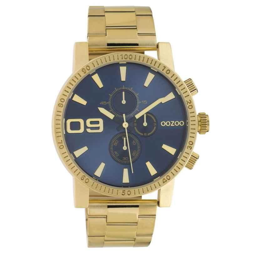 Oozoo C10707 Herren-Armbanduhr im Chrono-Look Goldfarben/Blau 45 mm 8719929021349