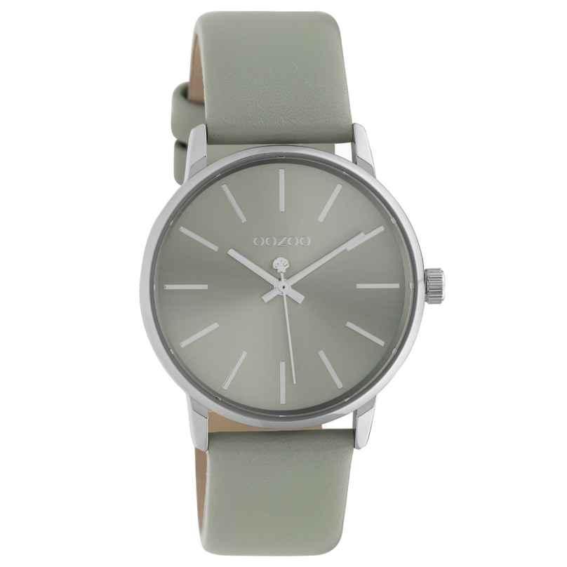 Oozoo C10723 Damen-Armbanduhr mit Lederband Hellgrau/Silberfarben 35 mm 8719929021509