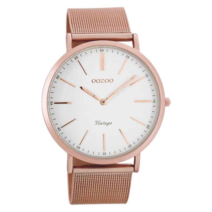 Oozoo C7390 Vintage Watch White/Rosegold 40 mm 9879012505671
