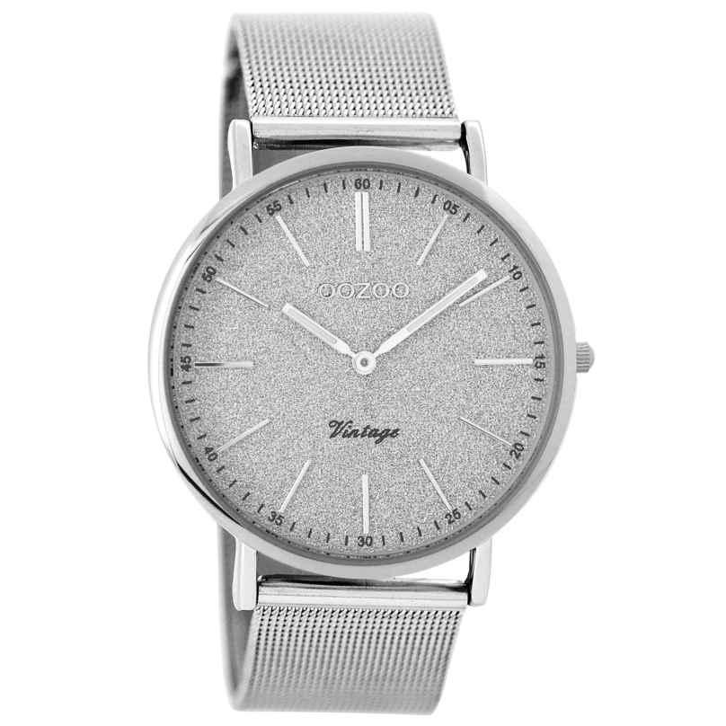 Oozoo C8199 Ladies Watch Vintage Silver Tone 40 mm 9879012516066