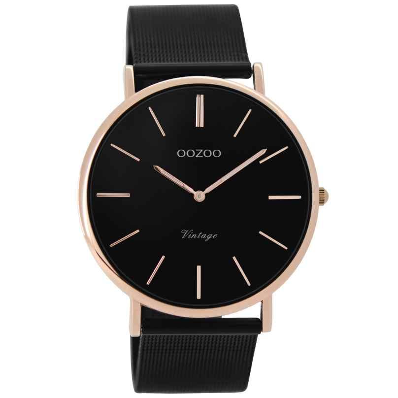 Oozoo C8869 Unisex Watch Vintage Black/Rose 40 mm 9879012520001