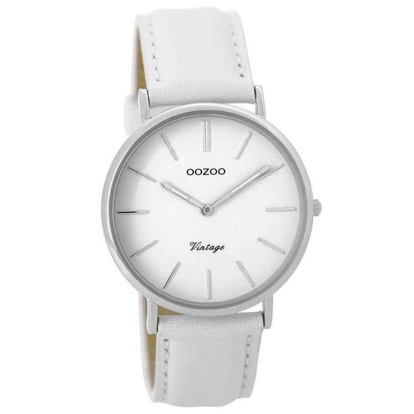 Oozoo C9312 Damenuhr Vintage Weiß/Silber 36 mm 8719929001495