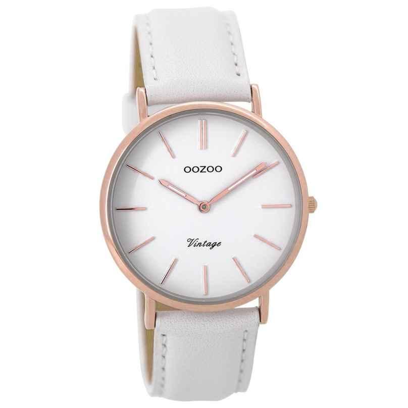 Oozoo C9316 Ladies Watch Vintage White/Rose 36 mm 8719929001532
