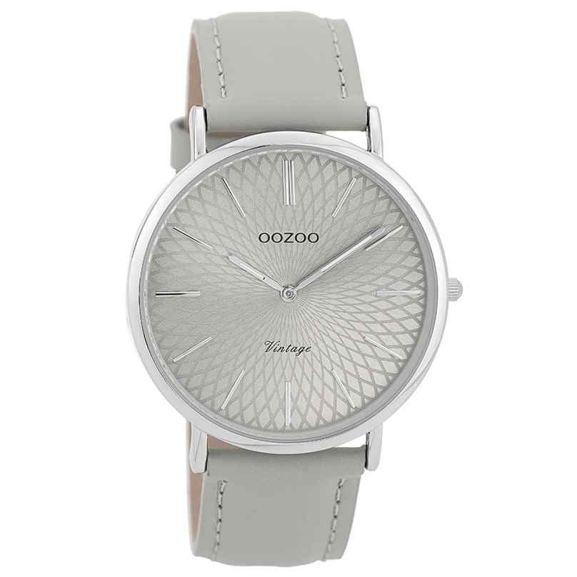 Oozoo C9333 Damenuhr Vintage Silberfarben/Grau 40 mm 8719929001723