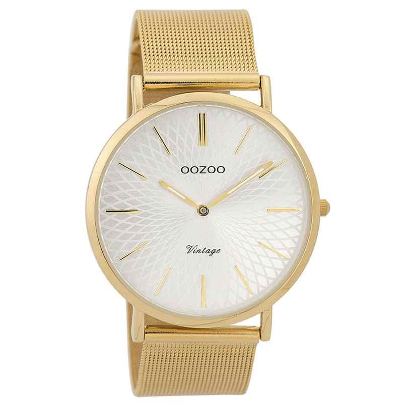 Oozoo C9346 Damen-Armbanduhr Vintage Goldfarben/Silberfarben 40 mm 8719929001853