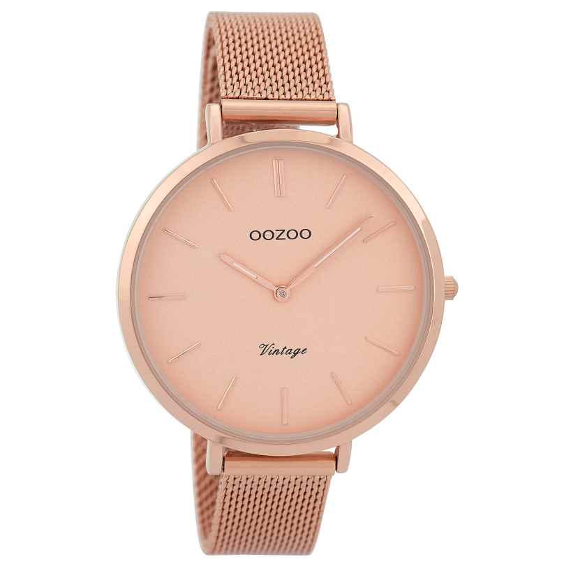 Oozoo C9373 Ladies Watch Vintage Rose Gold Tone 40 mm 8719929002522