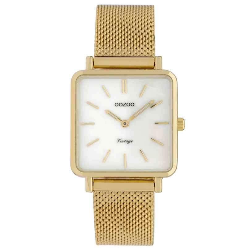 Oozoo C9843 Ladies' Watch Vintage MOP White/Mesh Band 28 mm 8719929008319