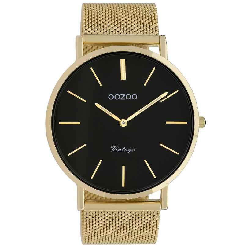 Oozoo C9912 Watch Vintage Gold-Tone/Black 44 mm 8719929009729