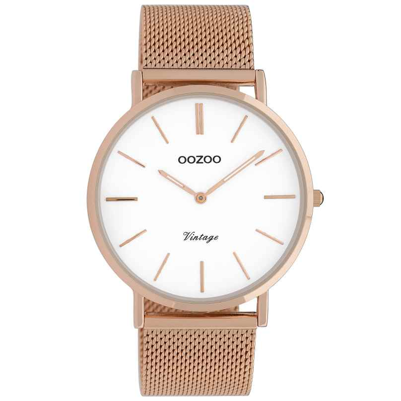 Oozoo C9917 Ladies' Watch Vintage Rose Gold-Tone/White 40 mm 8719929009774