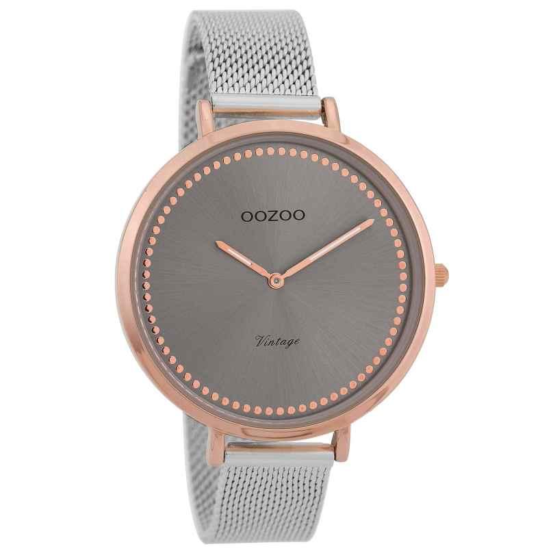 Oozoo C9856 Damenuhr Vintage Rosé/Grau 40 mm 8719929008449