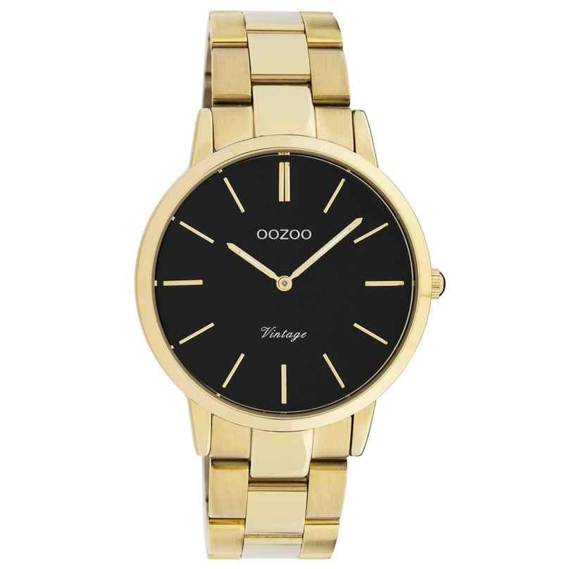 Oozoo C20035 Damen-Armbanduhr Metallband Ø 38 mm Goldfarben/Schwarz 8719929016307