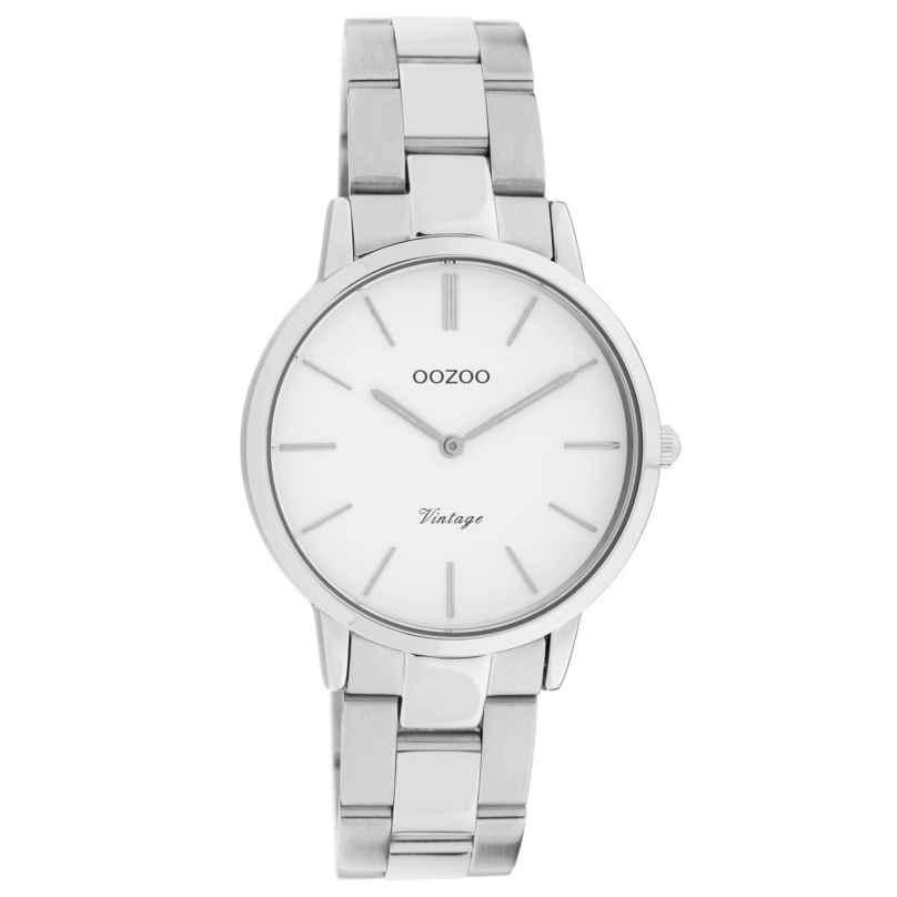 Oozoo C20038 Women's Watch Metal Bracelet Silver/White Ø 34 mm 8719929016338