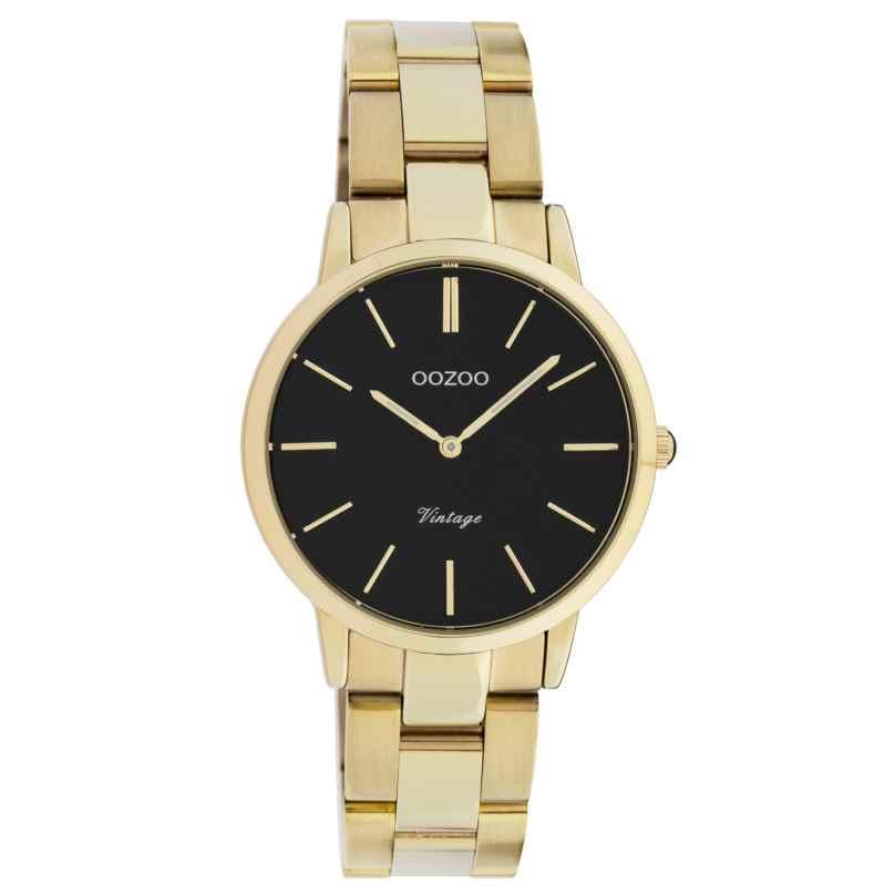 Oozoo C20047 Damen-Armbanduhr Metallband Gold/Schwarz Ø 34 mm 8719929016420