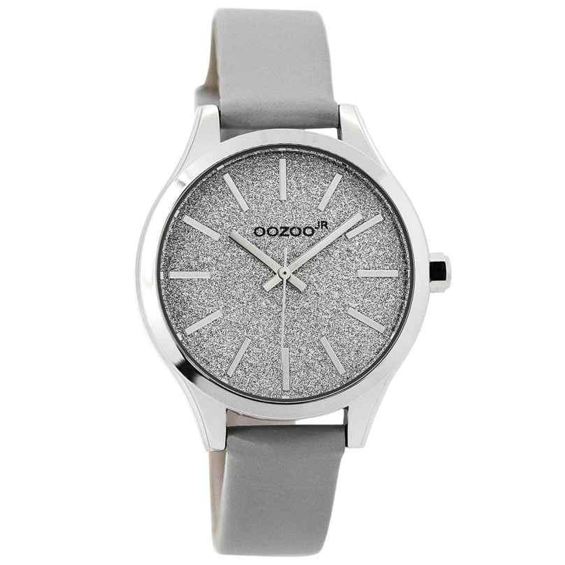 Oozoo JR295 Armbanduhr für Mädchen und Damen Grau 35 mm 9879012519456