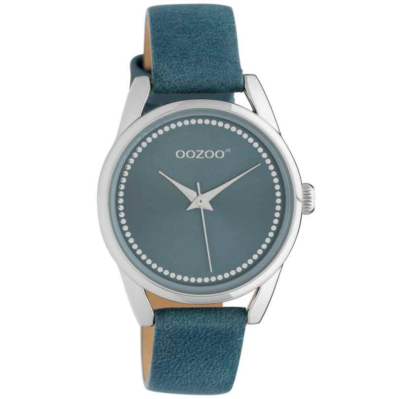 Oozoo JR307 Ladies' Watch with Leather Strap 32 mm Blue 8719929019216