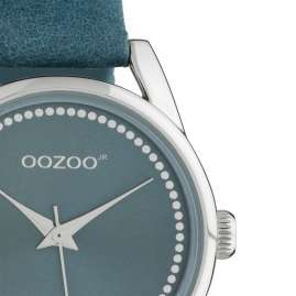 Oozoo JR307 Damenuhr mit Lederband 32 mm Blau