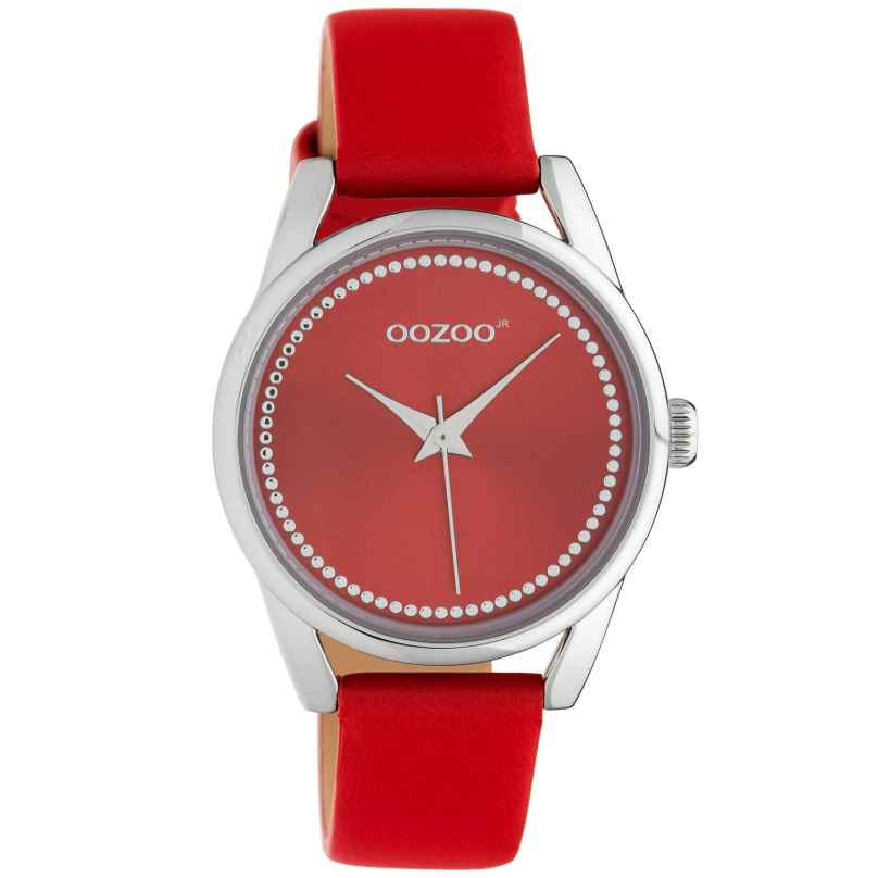 Oozoo JR309 Women's Watch with Leather Strap 32 mm Chili Pepper Red 8719929019230