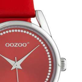 Oozoo JR309 Women's Watch with Leather Strap 32 mm Chili Pepper Red
