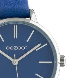 Oozoo JR313 Damenuhr mit Lederband 34 mm Blau