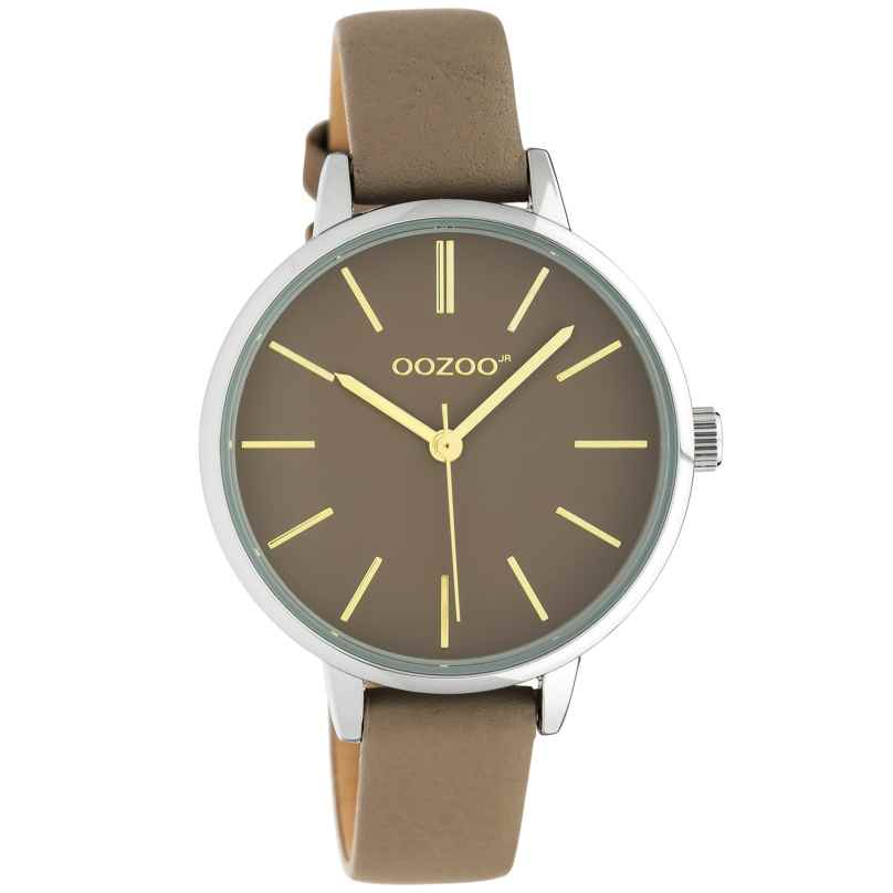 Oozoo JR314 Women's Watch with Leather Strap 34 mm Taupe 8719929019285