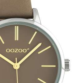 Oozoo JR314 Damenuhr mit Lederband 34 mm Taupe