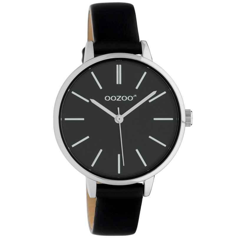Oozoo JR315 Damen-Armbanduhr mit Lederband 34 mm Schwarz 8719929019292