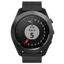 Garmin 010-01702-02 Approach S60 Premium GPS Golfuhr Lederband Schwarz