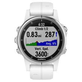Garmin 010-01987-01 fenix 5S Plus Saphir GPS Multisport Armbanduhr Silber